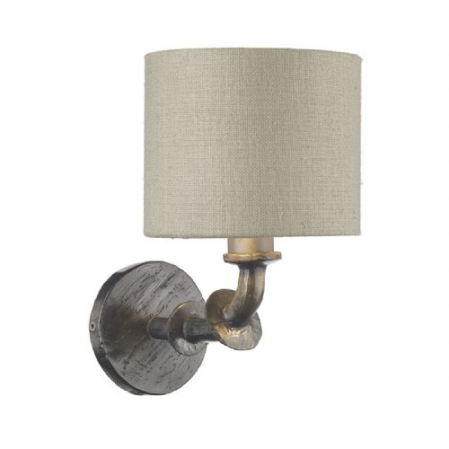 Icarus  Wall Light Steel + Silk Shade (Spec Col) ICA0791 (7-10 day Delivery) (Double Insulated)